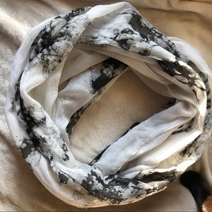 Accessories - Marble Print Infinity Fashion Scarf